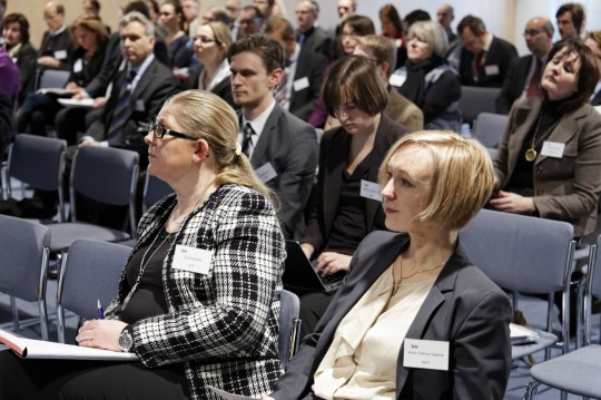 FINLAND: From left: Tiina Koljonen, VTT; Benjamin Donald Smith, Marie Loe Halvorsen, Anne Cathrine Gjærde, all Nordic Energy Research. Helsinki 22.01.13. photo: studiohalas.com
