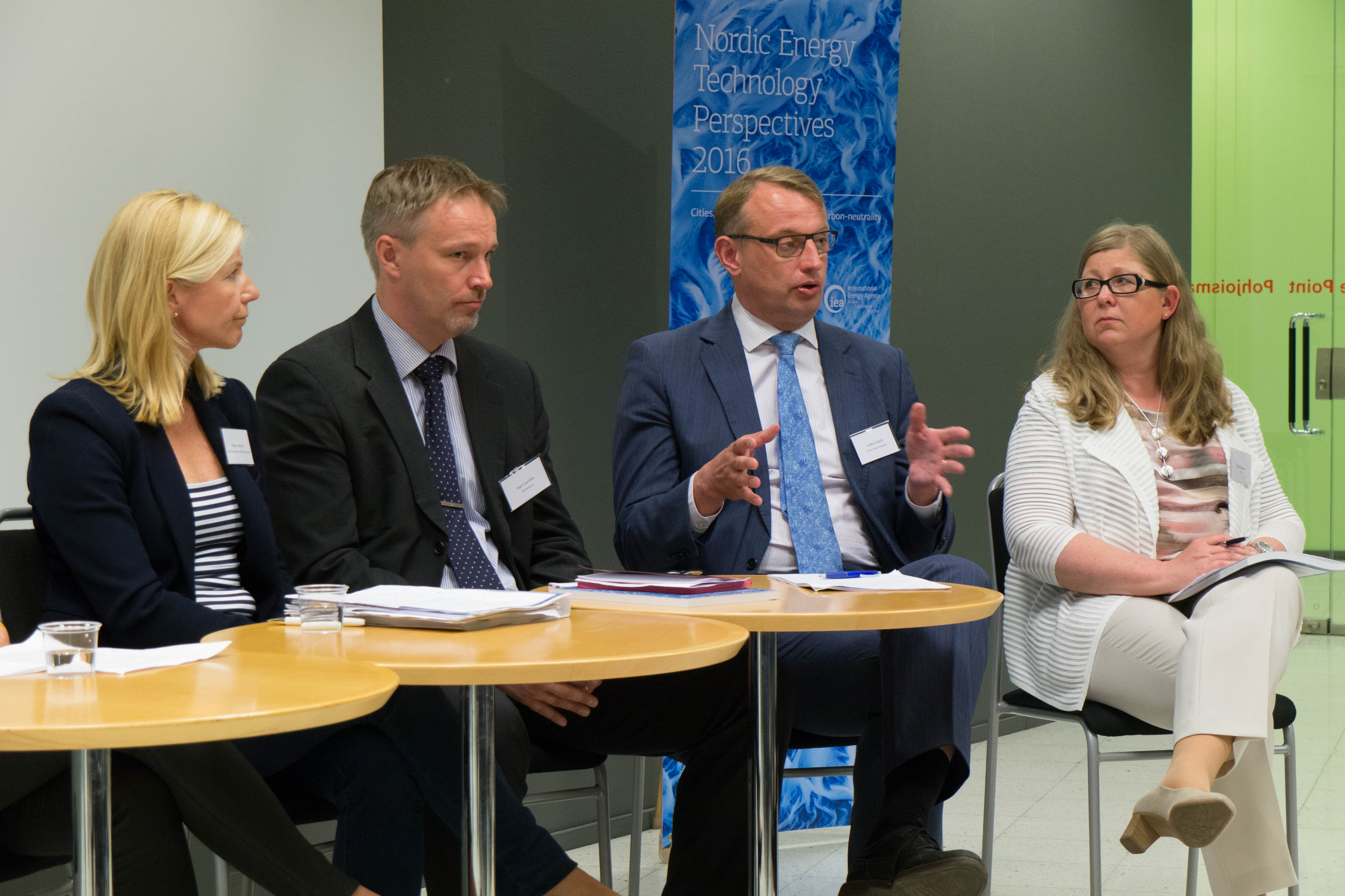 Left to right: Helena Vänskä (Finnish Petroleum and Biofuels Association), Harri Laurikka (Bioenergy Association of Finland), Jukka Leskelä (Finnish Energy Industries), Tiina Koljonen (VTT). Helsinki 16th of June 2016.