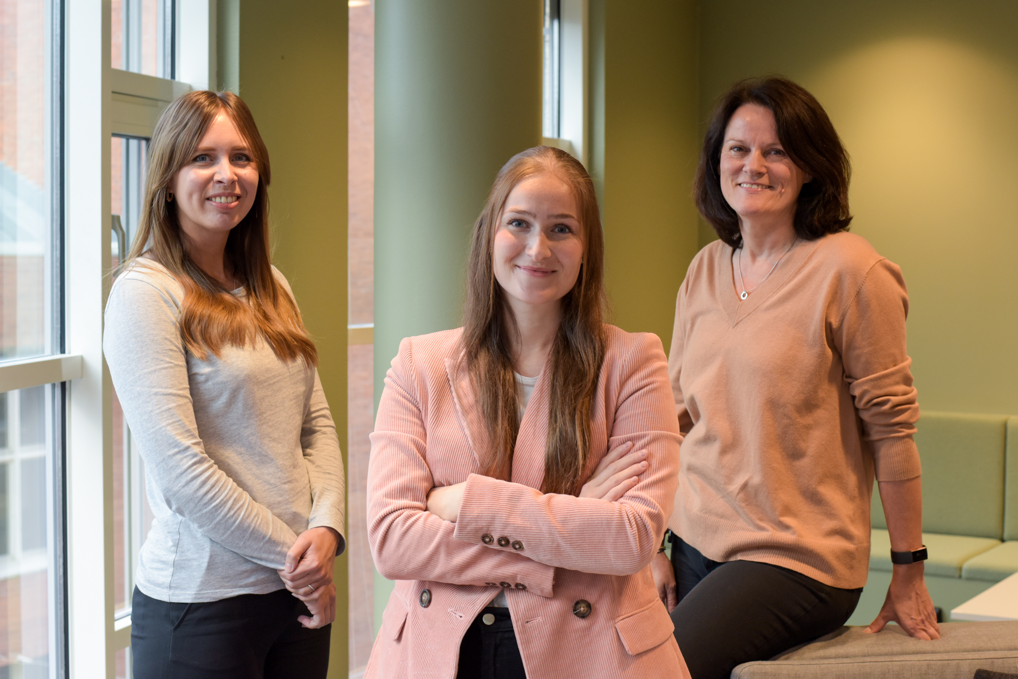 Left to right: Sofia Elamson, Nicki Carnbrand Håkansson, Jun Elin Wiik